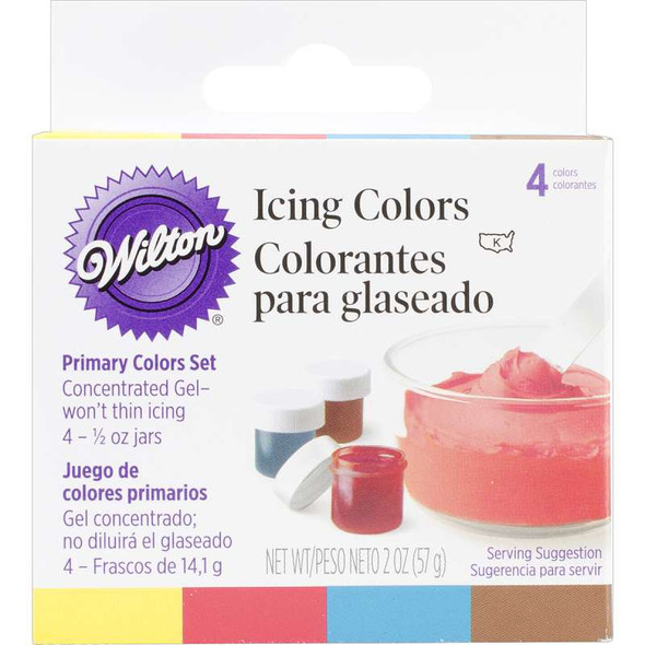 Icing Colors .5oz 4/Pkg Primary