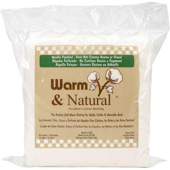 "Warm & Natural Cotton Batting  Queen Size 90""X108"""