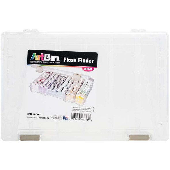 """ArtBin Floss Finder With Dividers 10.75""""X7.375""""X1.75"""" Translucent"""