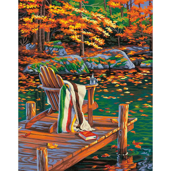 """Paint Works Paint By Number Kit 14""""X11"""" Golden Pond"""