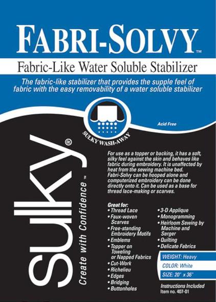 """Fabri-Solvy Soluble Stabilizer 20""""X36"""""""