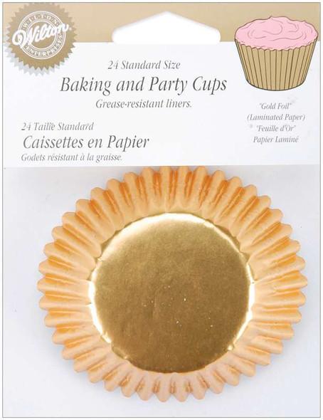Standard Baking Cups Gold Foil 24/Pkg