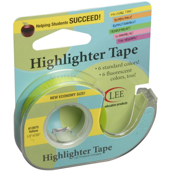 """Crafter's Easy See Removable Craft Tape .5""""X720"""" Yellow"""