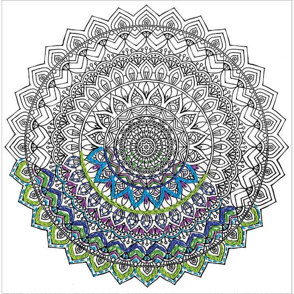"Zenbroidery Stamped Embroidery 10""X10"" Mandala"