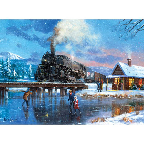 """Paint By Number Kit 15.375""""X11.25"""" Winter Magic"""