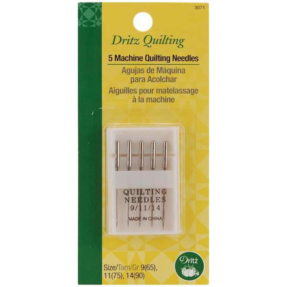 Dritz Quilting Machine Quilting Needles  Sizes 9/65, 11/75 & 14/90 5/Pkg