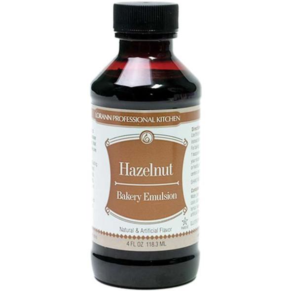Bakery Emulsions Natural & Artificial Flavor 4oz Hazelnut