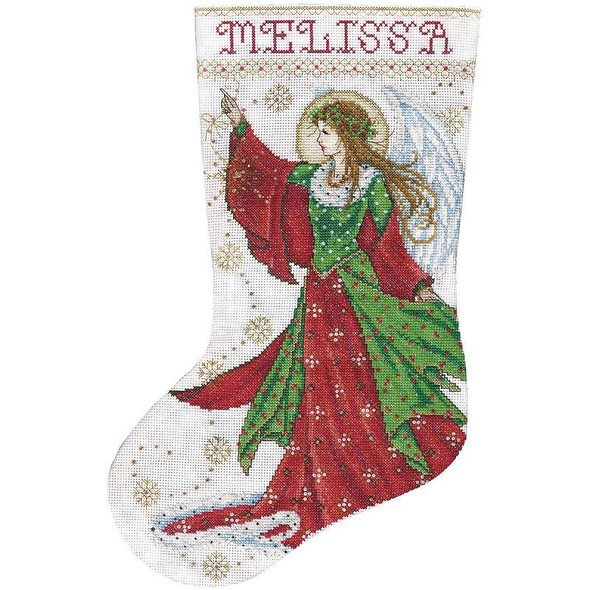 """Angel Of Joy Stocking Counted Cross Stitch Kit 17"""" Long 14 Count"""