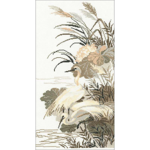 """Herons Counted Cross Stitch Kit 10.25""""X19"""" 14 Count"""