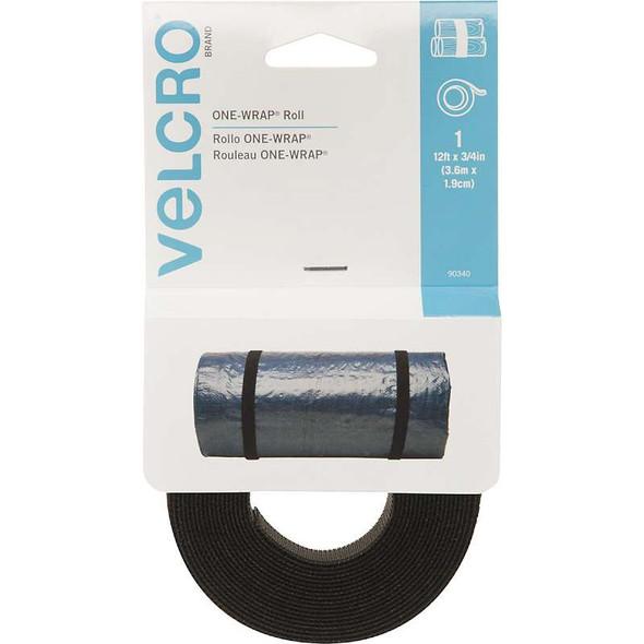 "VELCRO(R) Brand ONE-WRAP(R) Roll 3/4""X12' Black"
