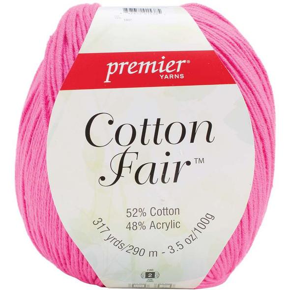 Cotton Fair Solid Yarn Bright Pink