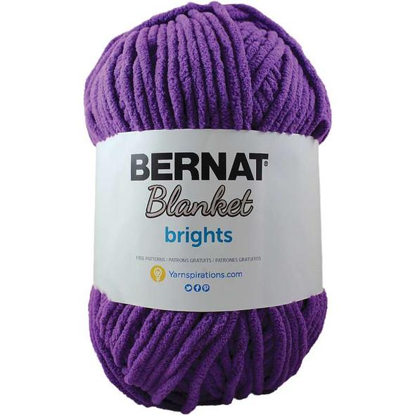 Bernat Blanket Brights Big Ball Yarn Pow Purple