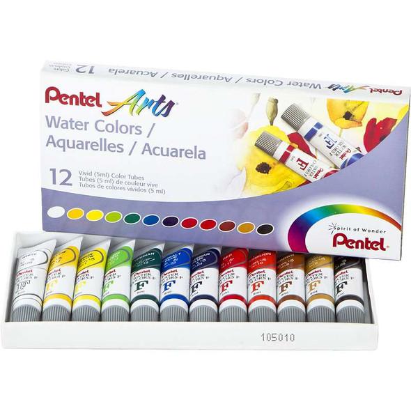 Watercolor Paints 5ml 12/Pkg Assorted Colors