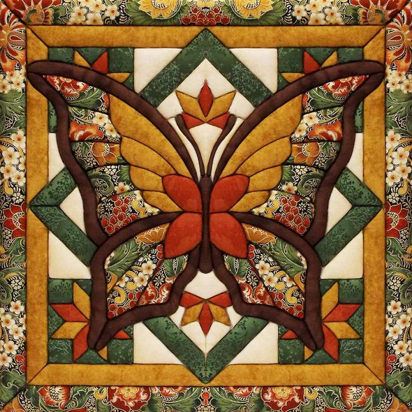 "Fall Butterfly Quilt Magic Kit 12""X12"""