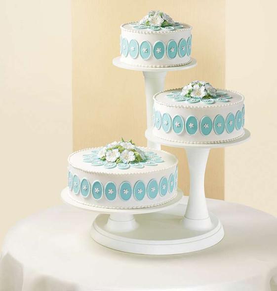 3-Tier Pillar Cake Stand White