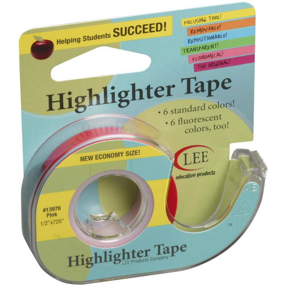 """Crafter's Easy See Removable Craft Tape Pink .5""""X720"""""""