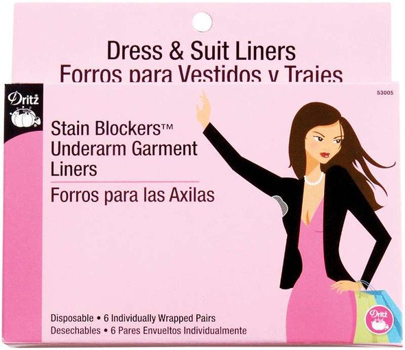 Stain Blockers Underarm Garment Liners 6 Pairs