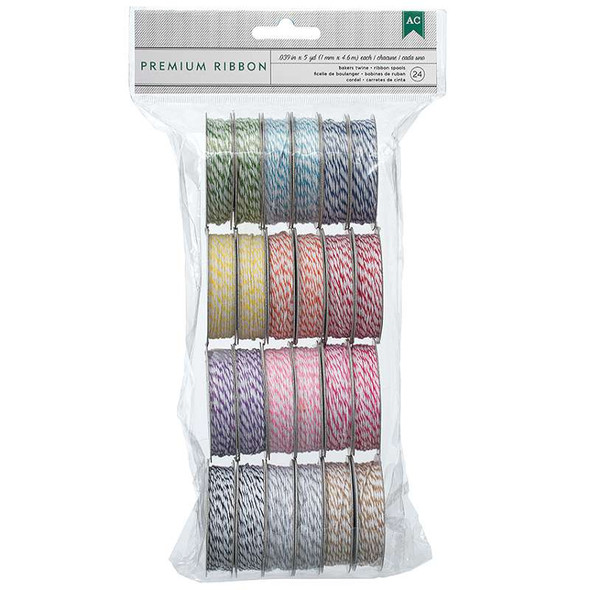 Baker's Twine Value Pack 5yd Spools 24/Pkg Bright