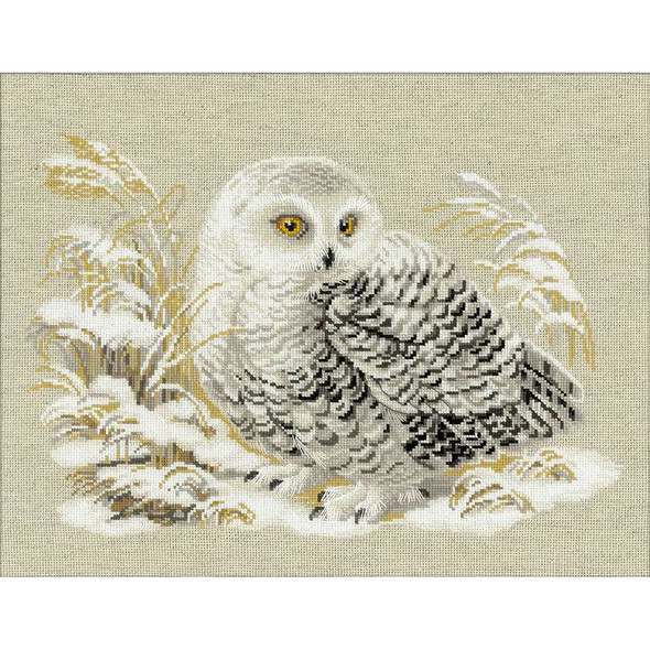 """White Owl Counted Cross Stitch Kit 17.75""""X13.75"""" 14 Count"""