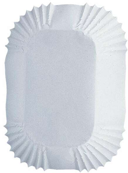 """Petite Loaf Cups White 50/Pkg 1.25""""X3.25"""""""