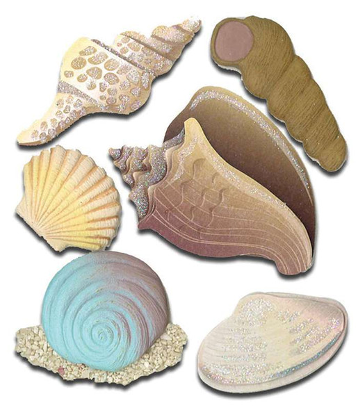 Jolee's Boutique Dimensional Stickers Seashells