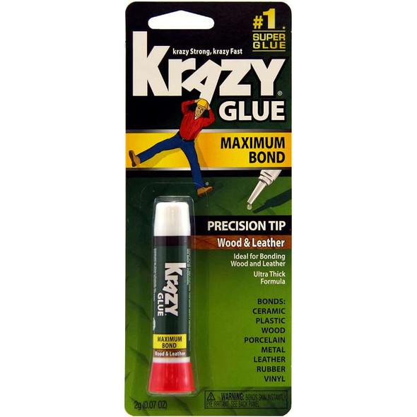 Instant Krazy Glue For Wood & Leather .07oz
