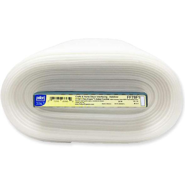 """Flex-Foam 1-Sided Fusible Stabilizer White 20""""X10yd FOB: MI"""