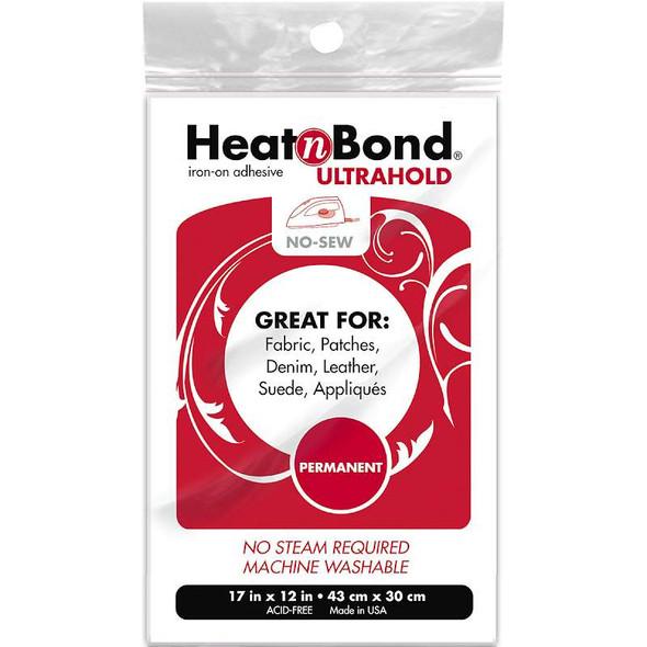 "Heat'n Bond Ultra Hold Iron-On Adhesive 17""X12"""