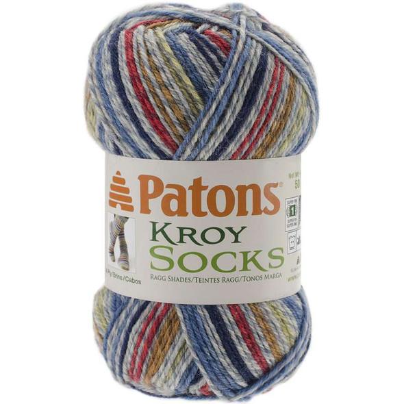 Kroy Socks Yarn Blue Striped Ragg