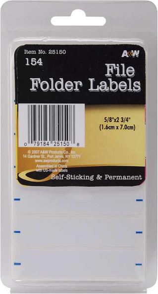 """Labels File Folder .625""""X2.75"""" 154/Pkg"""