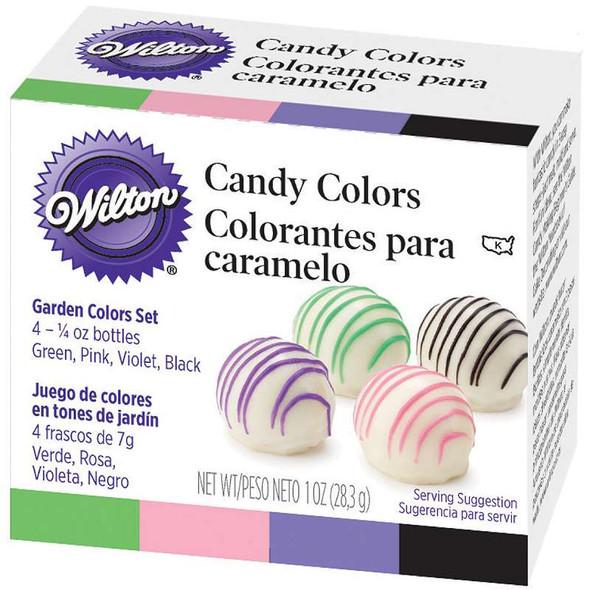 Candy Colors .25oz 4/Pkg Pink, Green, Violet & Black