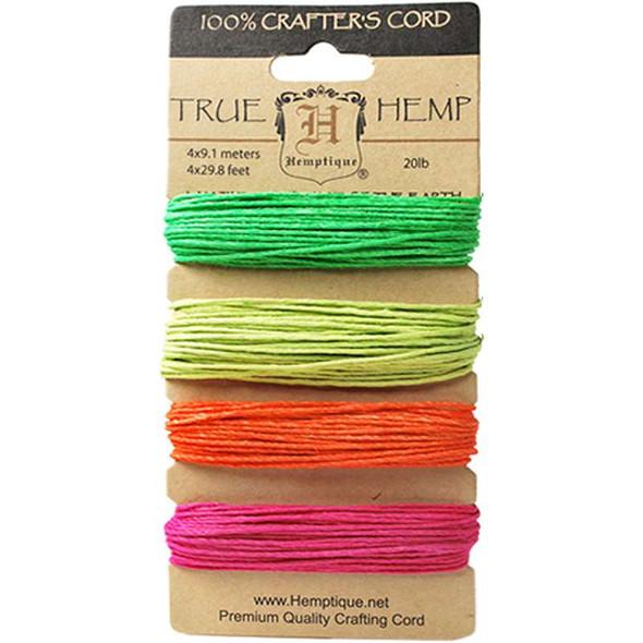 Hemp Cord 20lb 120' Neon