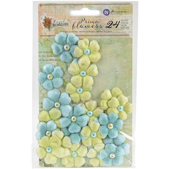 """Royal Menagerie Mulberry Paper Flowers 1.25"""" 24/Pkg Beatrix"""
