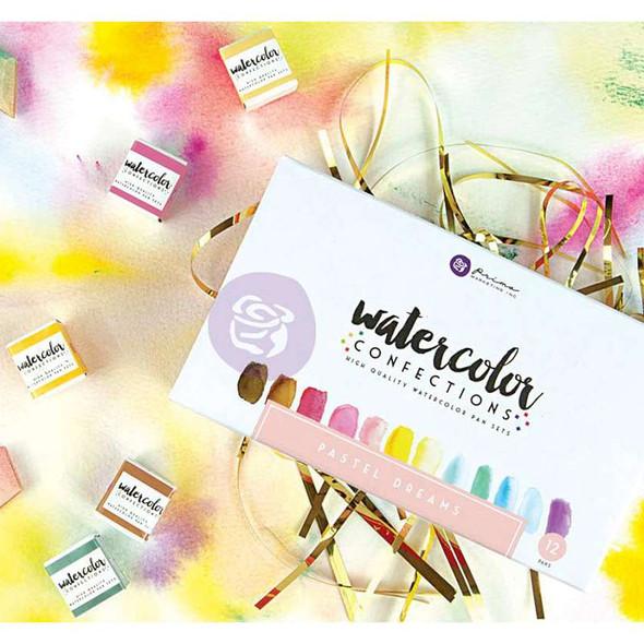 Prima Marketing Watercolor Confections Watercolor Pans 12/Pk Pastel Dreams
