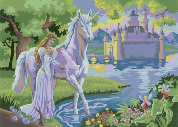 "Junior Large Paint By Number Kit 15.25""X11.25"" Fairy Castle"