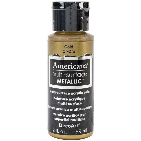 Americana Multi-Surface Metallic Acrylic Paint 2oz Gold