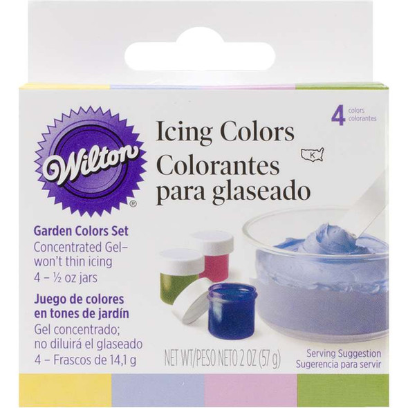 Icing Colors .5oz 4/Pkg Garden Tone