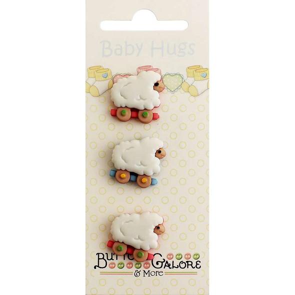 Baby Hugs Buttons Sheep