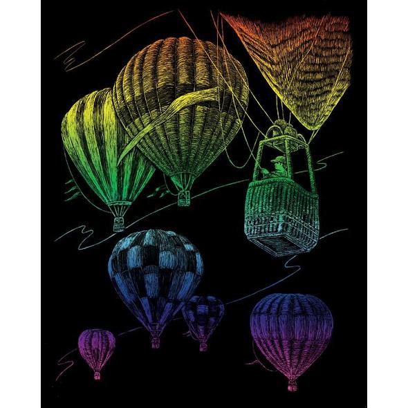 "Rainbow Foil Engraving Art Kit 8""X10"" Hot Air Balloons"