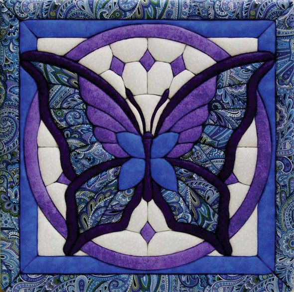 """Butterfly Quilt Magic Kit 12""""X12"""""""