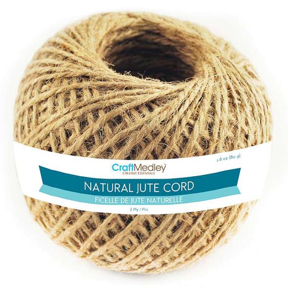 Jute Cord 2ply 80g Natural