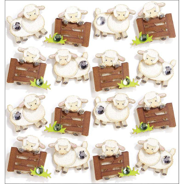 Jolee's Boutique Dimensional Stickers Sheep