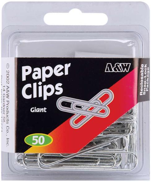 Paper Clips Giant - Silver 50/Pkg