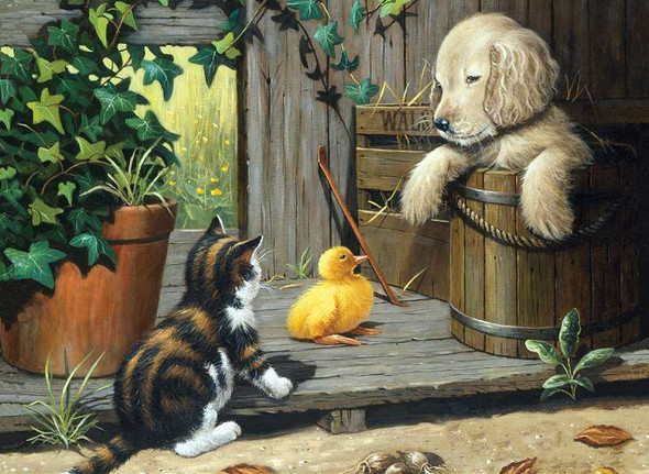 """Junior Large Paint By Number Kit 15.25""""X11.25"""" 3 Buddies"""