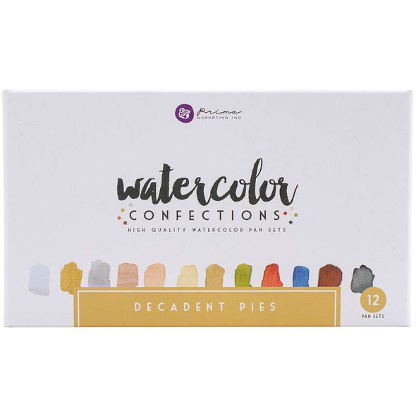 Prima Marketing Watercolor Confections Watercolor Pans 12/Pk Decadent Pies