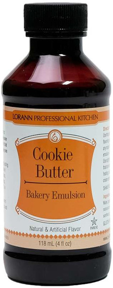 Bakery Emulsions Natural & Artificial Flavor 4oz Cookie Butter