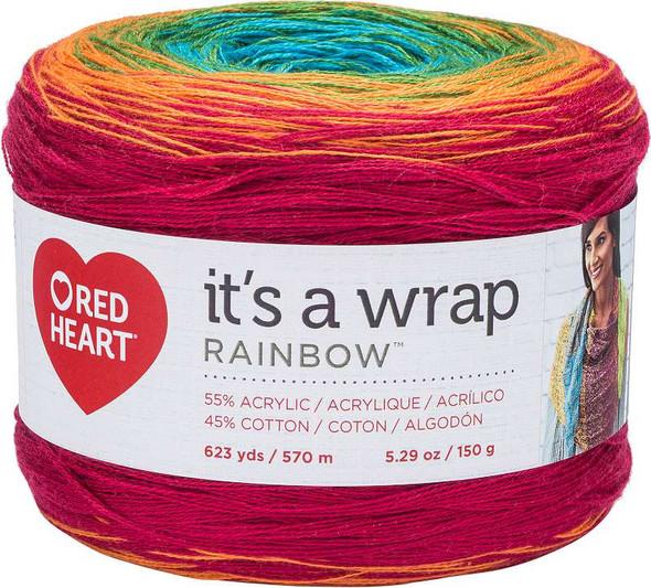 Red Heart It's A Wrap Rainbow Yarn Fiesta