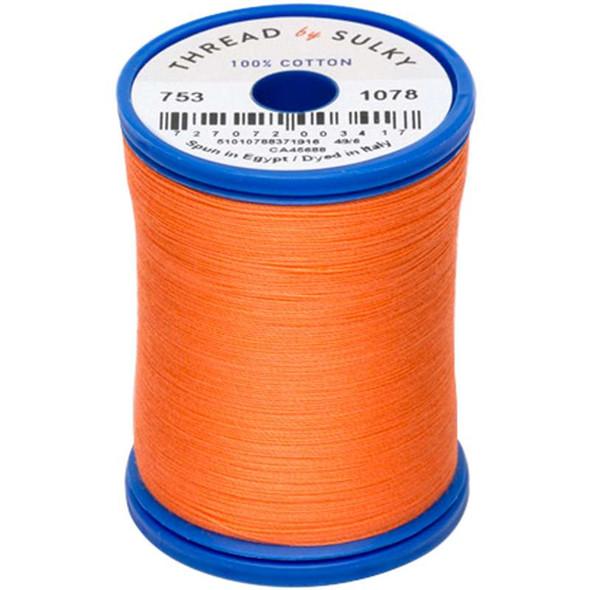 Sulky Cotton & Steel Thread 50wt 660yd Tangerine