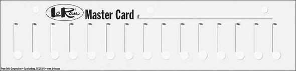 "LoRan Master Cards 11""X2.75"" 3/Pkg"