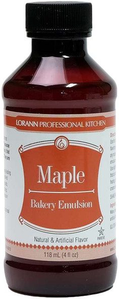 Bakery Emulsions Natural & Artificial Flavor 4oz Maple